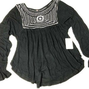 Free People | Soul Mate Top | Black Size Small